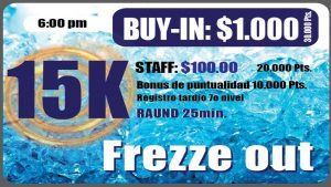 Ocean Poker Room 15k Freeze Out