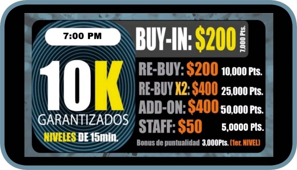 Ocean Poker 10k 7pm