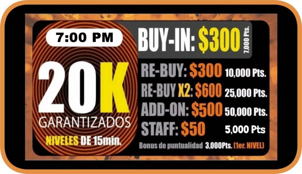 Ocean Poker 20k 7pm